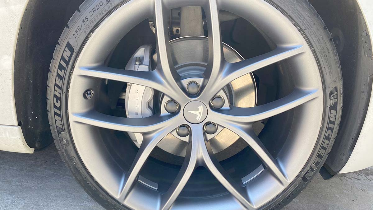 Tesla Model 3 Forged Performance Wheels from the Track Package