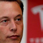 Angry Elon Musk and Tesla Logo.
