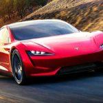 Tesla Roadster in Tesla Spec Ad by Billy Cramer.
