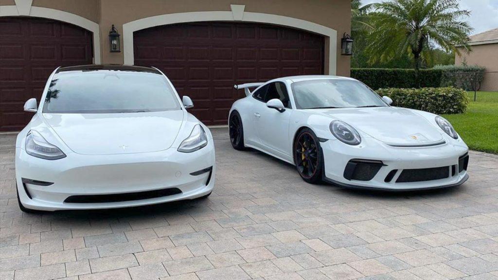 Tesla Model 3 Performance vs. Porsche 911 GT3 in Autocross.