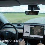 Testing Autopilot on a race track in a Tesla Model Y.
