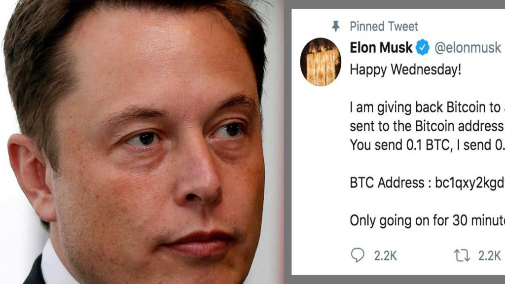 Elon Musk and other big Twitter accounts hacked.