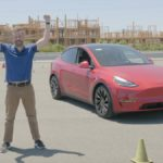 Tesla Model Y race track review by Edmunds.
