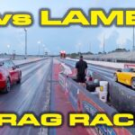Tesla Model Y vs. Lamborghini Murcielago drag race video.