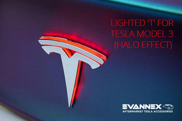 Tesla Model 3 Lighted 'T' by EVANNEX.