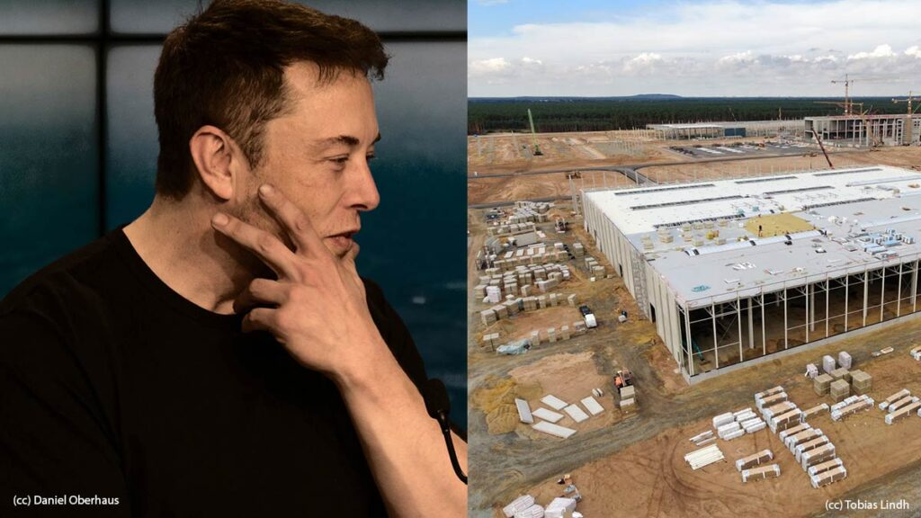 Elon Musk is visiting the Tesla Gigafactory Berlin this week.