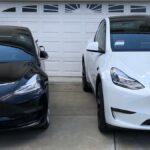 Tesla Model 3 and Model Y side-by-side.