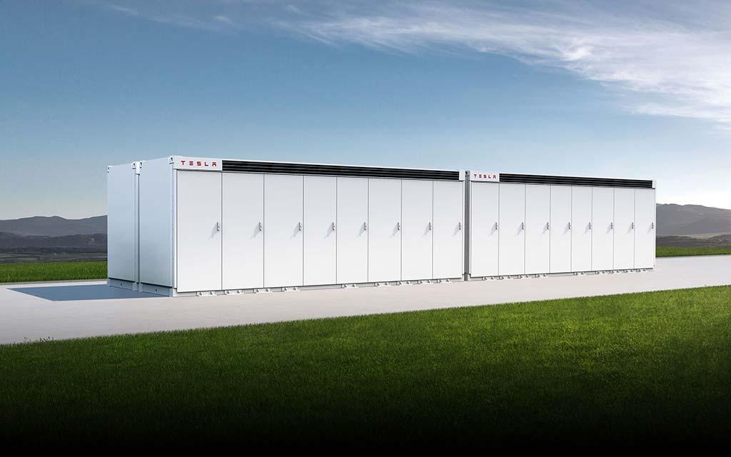 A Tesla Megapack unit.