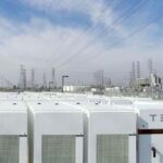 Tesla utility scale energy storage system (Tesla Megapack) for the grid.