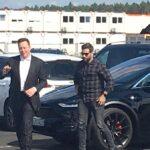Tesla CEO Elon Musk arriving at the Tesla Gigafactory Berlin, Brandenburg, Germany.