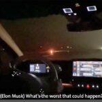 Elon Musk test driving the Volkswagen ID.3 with Herbert Diess.