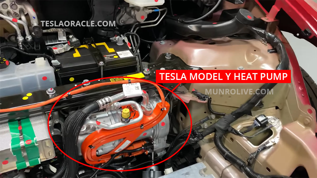 Tesla Model Y Heat Pump as seen in Sandy Munro's tear down.