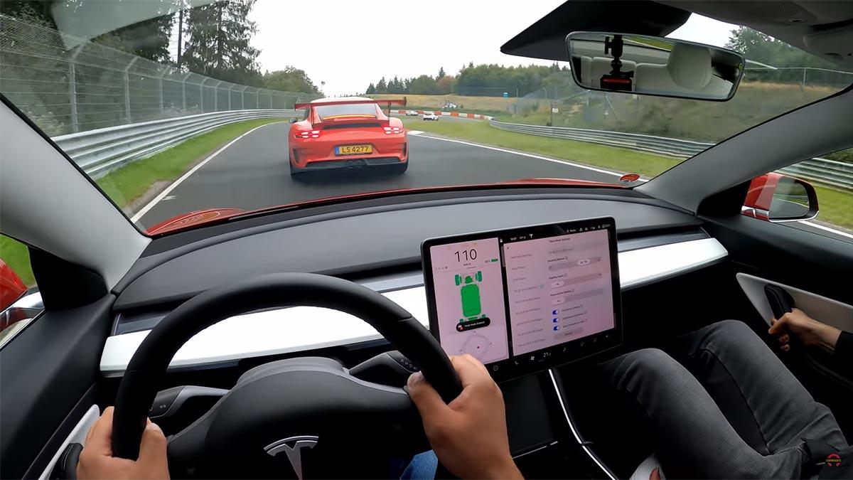 Nürburgring: Watch Tesla Model 3 overtake German cars like a boss