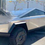 Tesla Cybertruck at the Tesla Battery Day 2020.