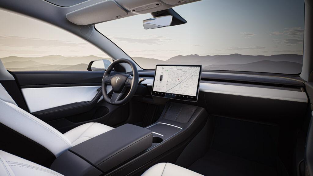 2021 Tesla Model 3 interior.