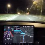 Tesla FSD Beta being tested at night.