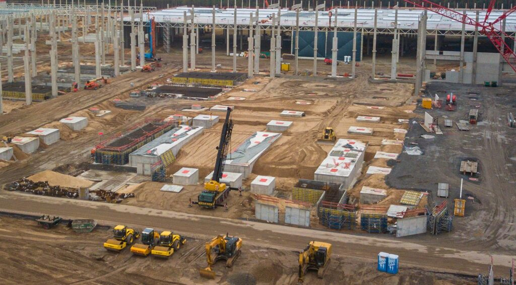 Giga Casting area at the Gigafactory Berlin Brandenburg as of 10/18/2020.