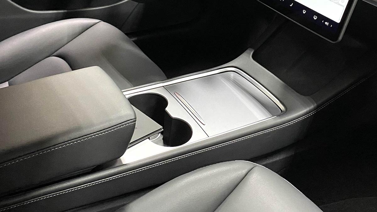 This is the new Tesla Model 3 center console