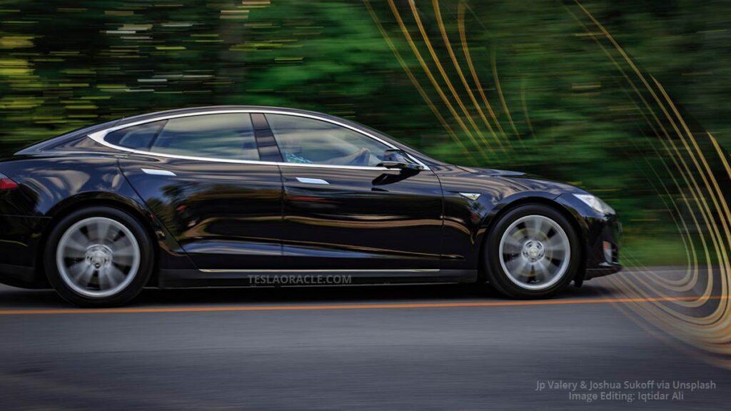 Tesla Model S Plaid full speed ahead, breaking the 2.0s 0-60 mph barrier.