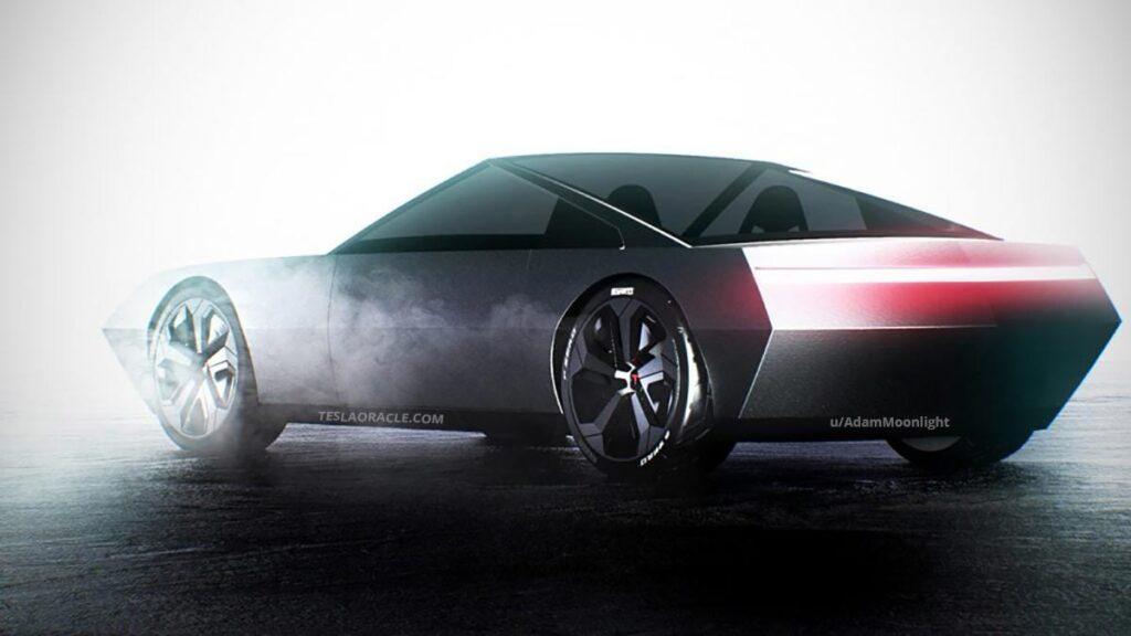 Tesla Cyber Roadster Concept.