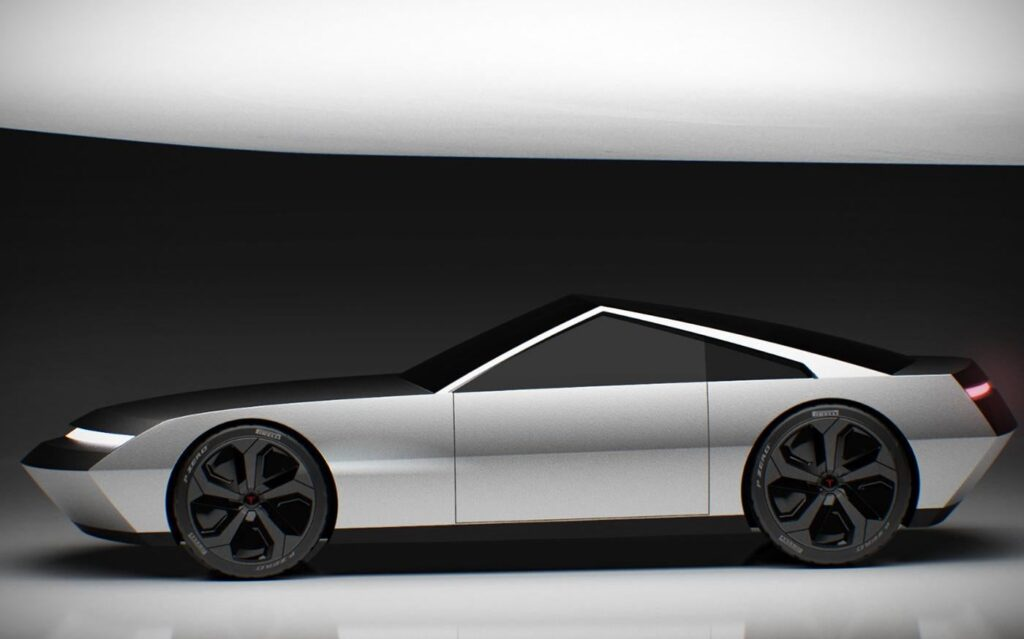 Tesla Cyber Roadster concept design based on the Cybertruck.