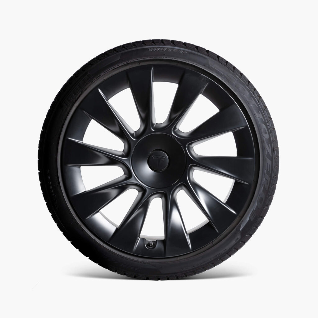 """Tesla Model Y 20"""" Induction Wheel and Winter Tire Package (Front View)"""