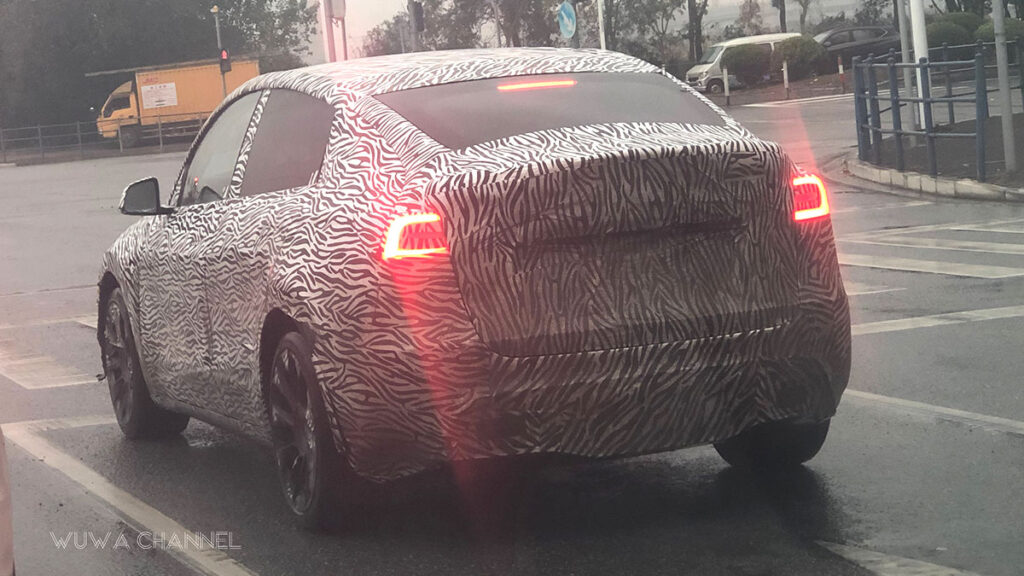 Camouflaged Tesla Model Y spotted in China.