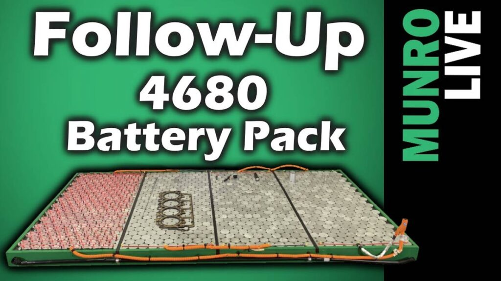 Sandy Munro presents more analysis of the Tesla 4680 cell and the structural battery pack.