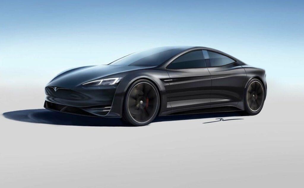 Tesla Model S design refresh concept render by the artist (Model S 2.0).