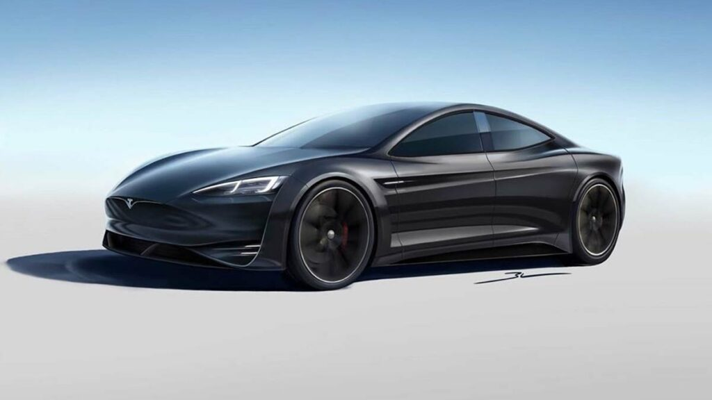 Concept design of the Tesla Model S design refresh.