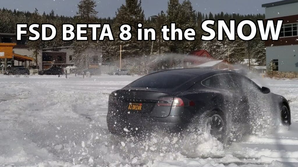 Testing FSD Beta version 8 in the snow.