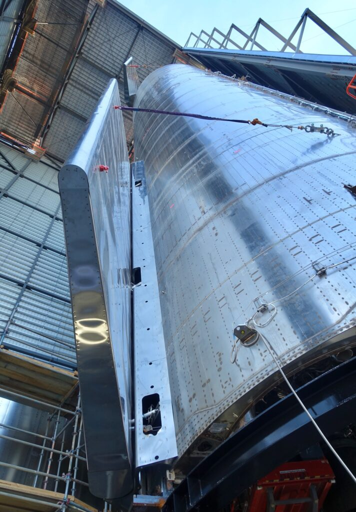 Starship SN8 closeup photo before the launch.