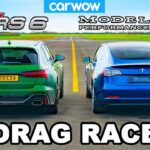 Tesla Model 3 Performance vs. Audi RS 6 drag race battle (video in the article).