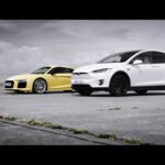 Tesla Model X drag races the Audi R8 on The Ground Tour.