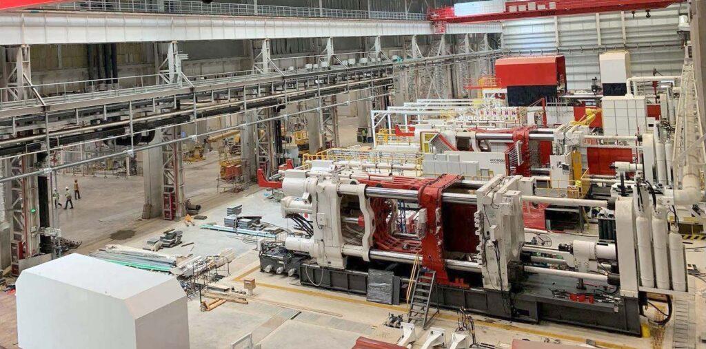 Tesla Model Y Giga Die Cast machines.