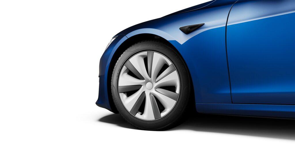 "2021 Tesla Model S 19"" Tempest Wheel (included)."
