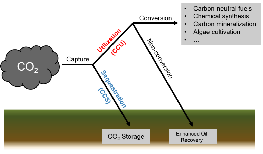 Diagram: Carbon Capture Storage and Utilization.