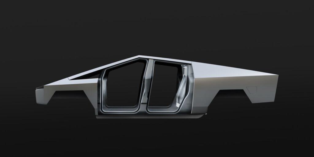 Tesla Cybertruck exoskeleton (unibody shell).