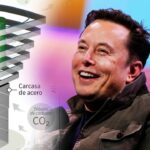 Elon Musk and a carbon capture robot.