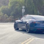 A prototype Tesla Model S spotted in California that is probably the 2021 refreshed version (video, analysis, and more pics in the article).