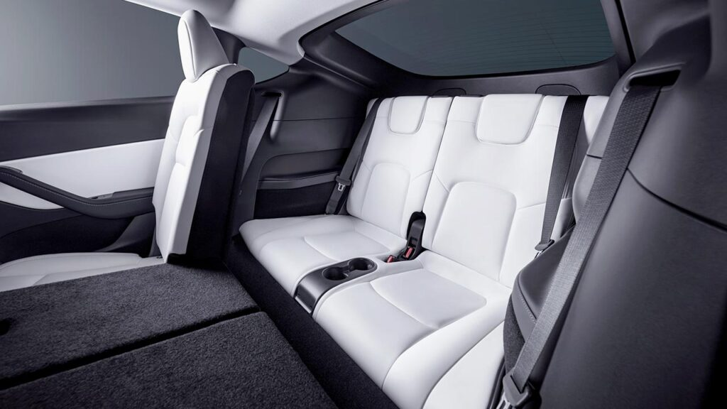 Tesla Model Y 3rd-row seat photo.