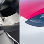 Tesla Model Y gets the new headlights and center console design.