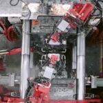 Tesla Giga Casting machine in action at the Fremont factory (video in article).