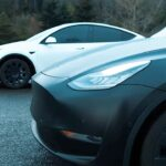 Tesla Model Y vs. Model Y Long Range AWD drag race with and without the $2,000 acceleration boost.