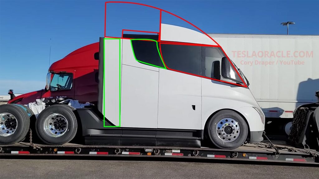 Tesla Semi Truck prototype spotted with design and engineering changes.