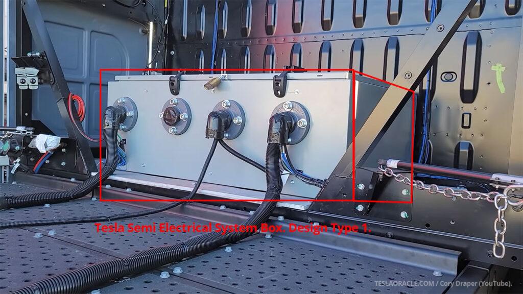 Tesla Semi Electrical System Box. Design Type 1.