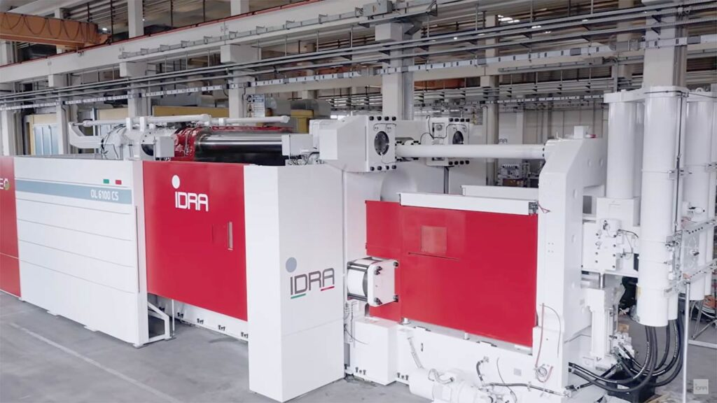 8,000-ton Cybertruck Giga Casting machine by IDRA Group.