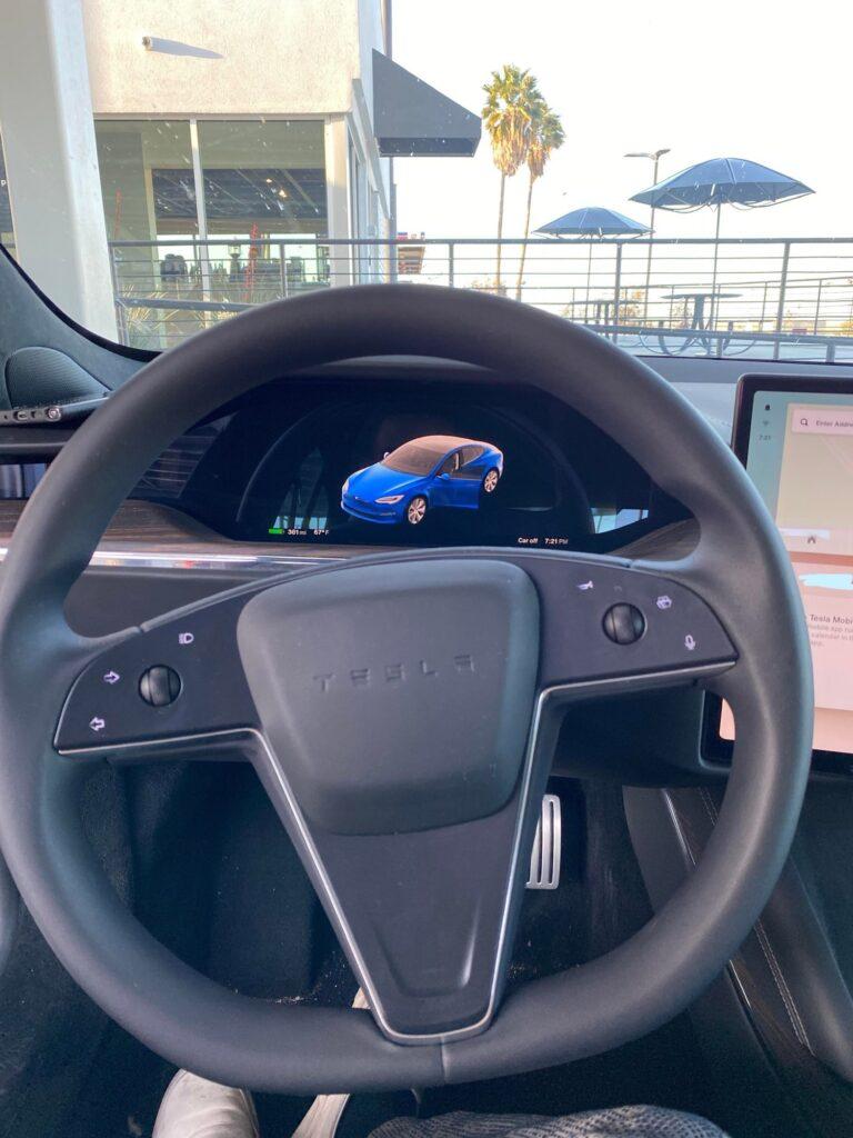 2021 Tesla Model S refresh instrument cluster.