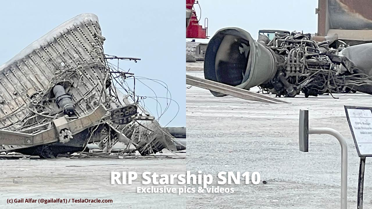 Exclusive pics and videos of the Starship SN10 wreckage cleanup
