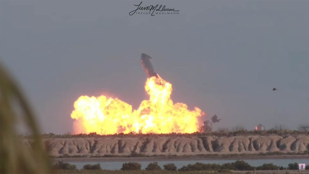 SpaceX Starship SN10 prototype explosion.